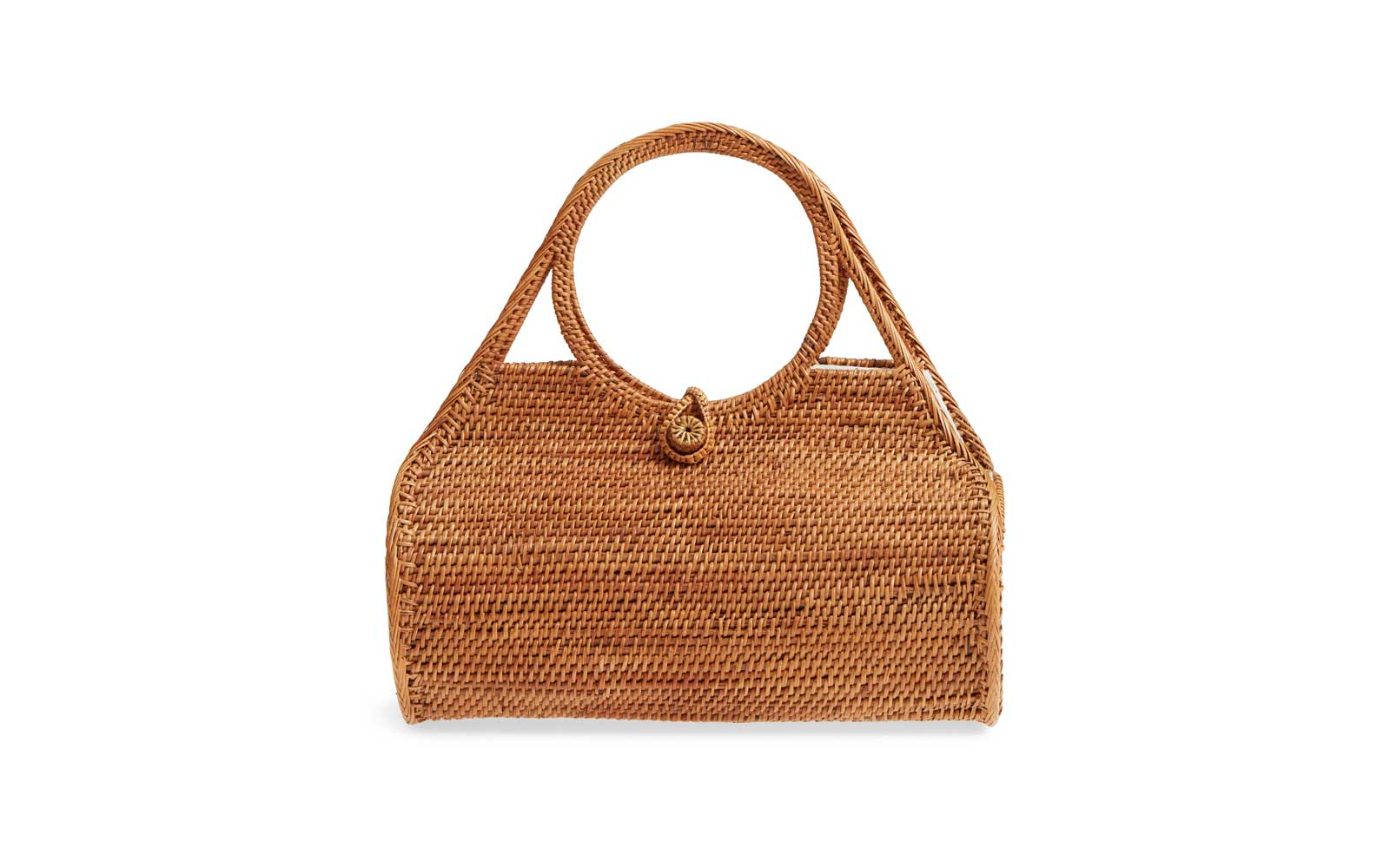 Street Level Woven Rattan Handbag