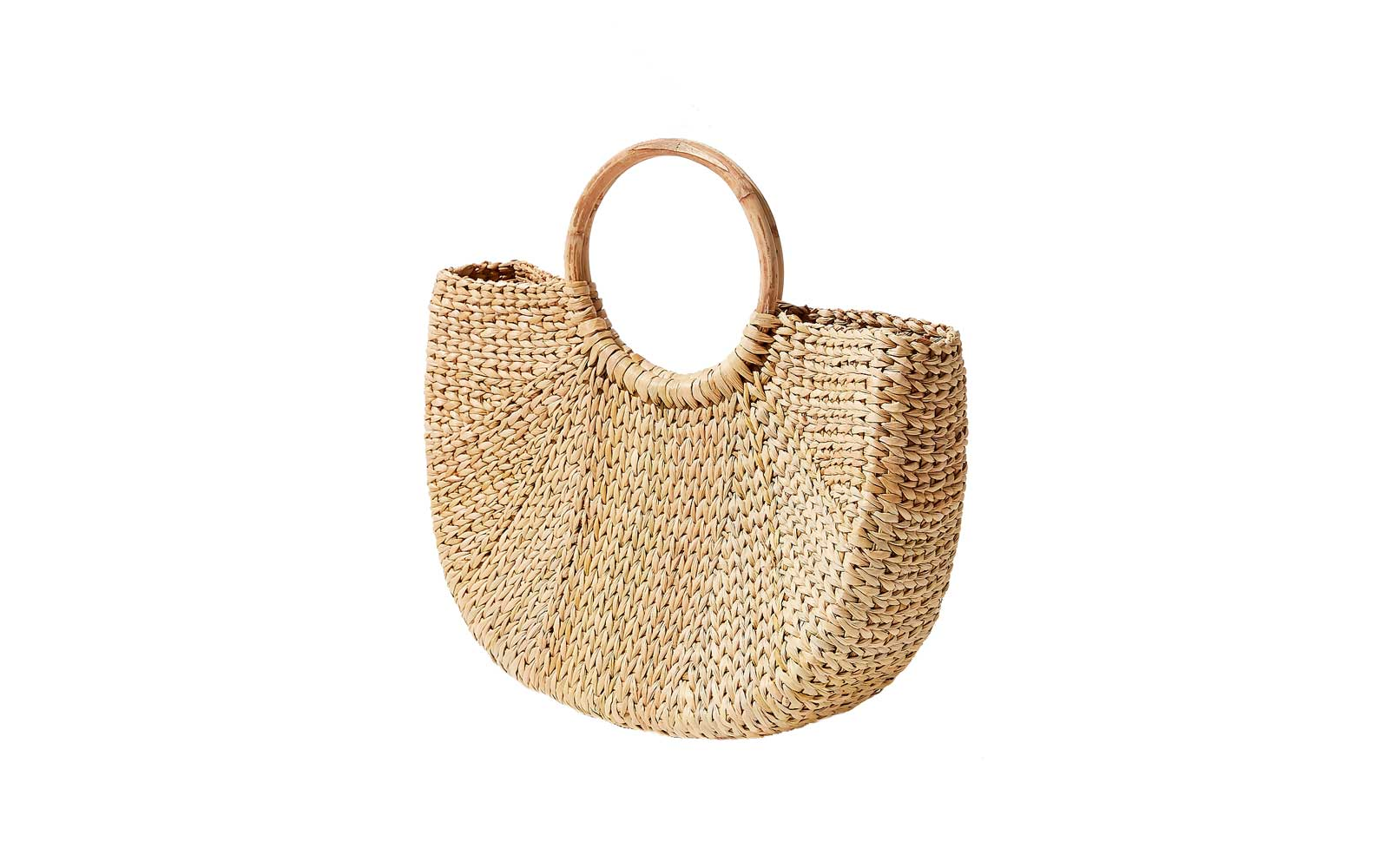 Urban Outfitters Half Moon Straw Bag