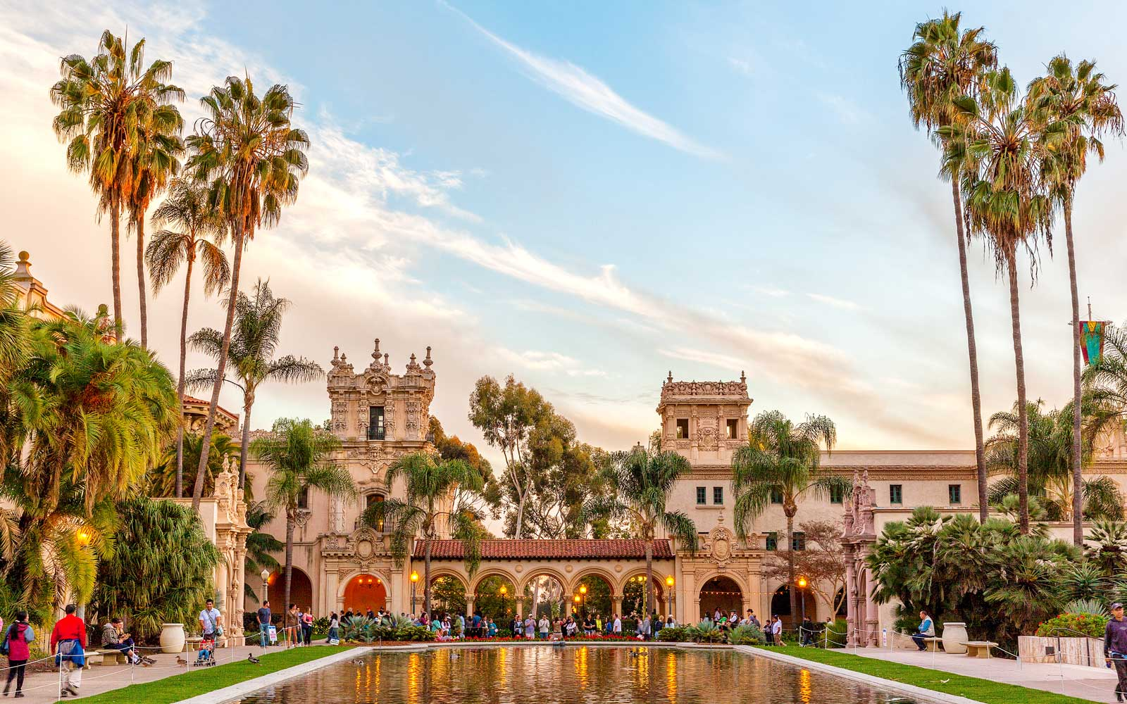Overlooking a lily pond in Balboa Park, San Diego, California, USA