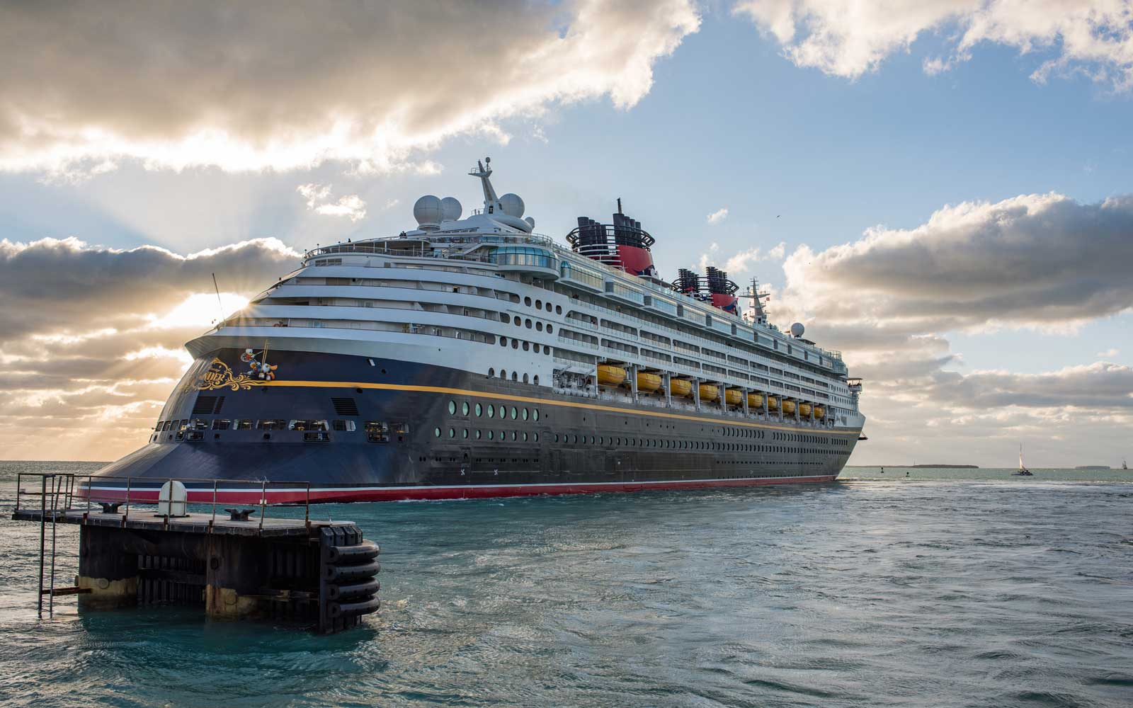 Walt Disney Cruise Line in Key West, Florida.