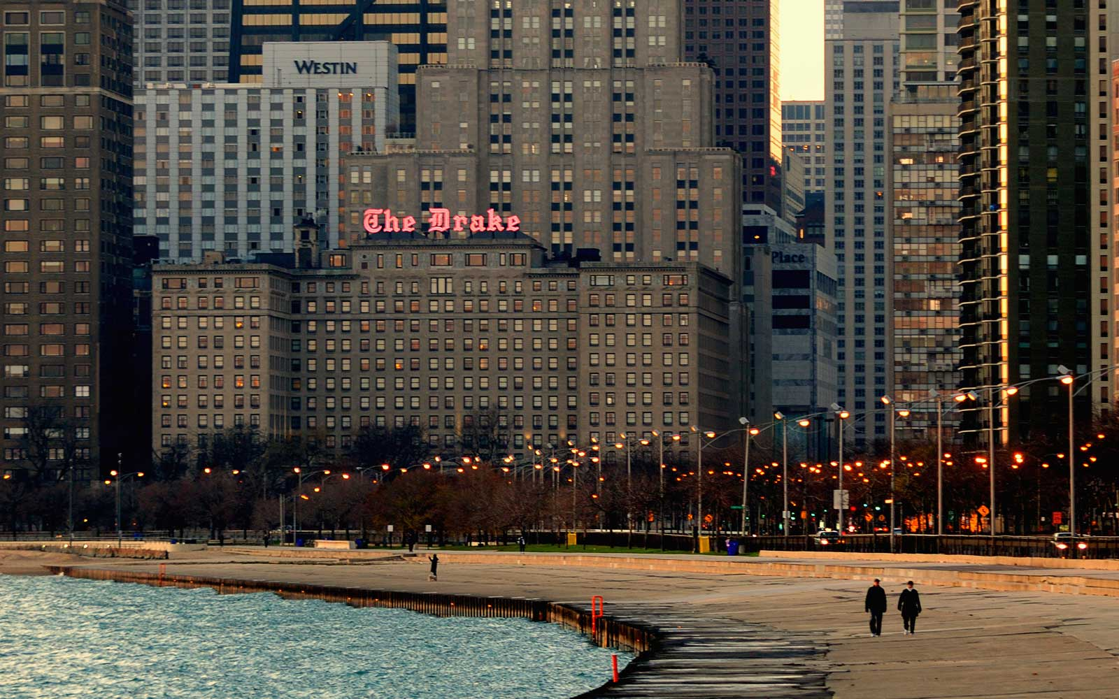Exterior of the Drake Hotel, in Chicago