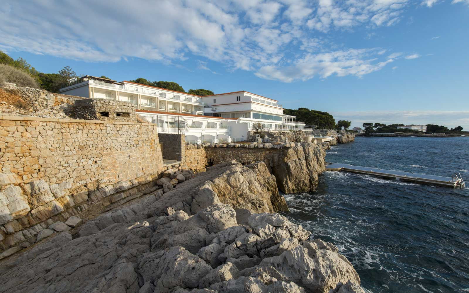 Exterior of the Hotel du Cap Eden Rock, in Antibes, France