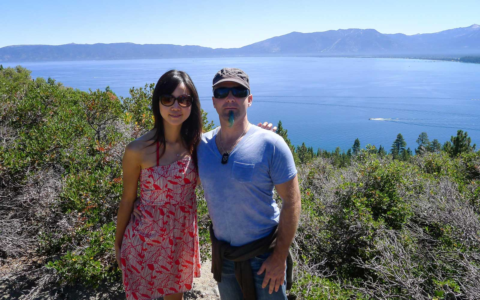 Jeremy and Winnie in Lake Tahoe