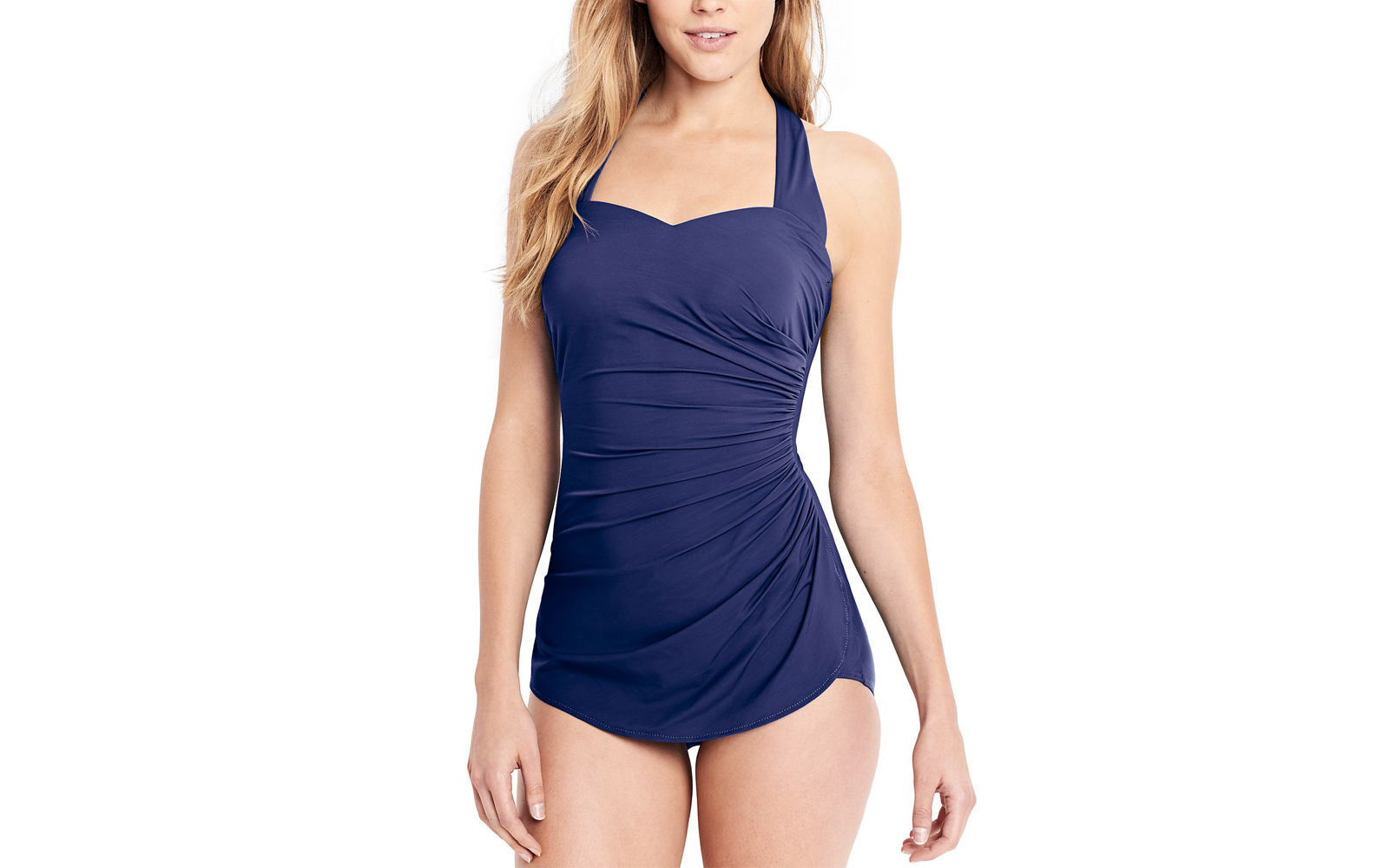 Women's Slender Tunic One Peice Swimsuit with Tummy Control