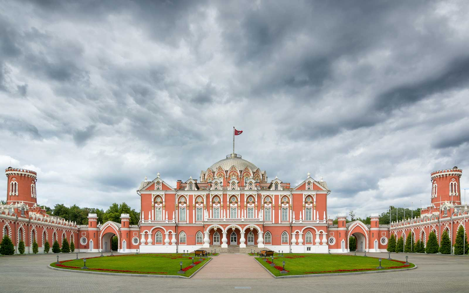 Exterior of the Petroff Palace, Moscow, Russia