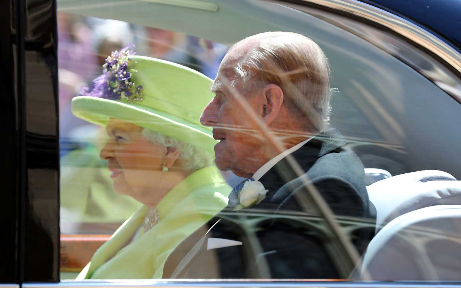 Britain's Queen Elizabeth II and Britain's Prince Philip, Duke of Edinburgh