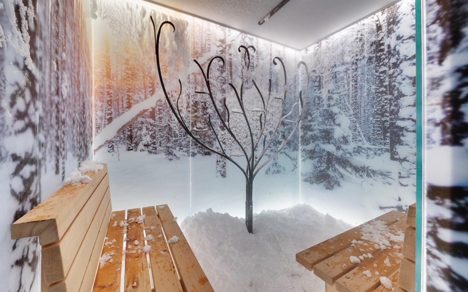 snow room at the MSC Seaview Aurea Spa