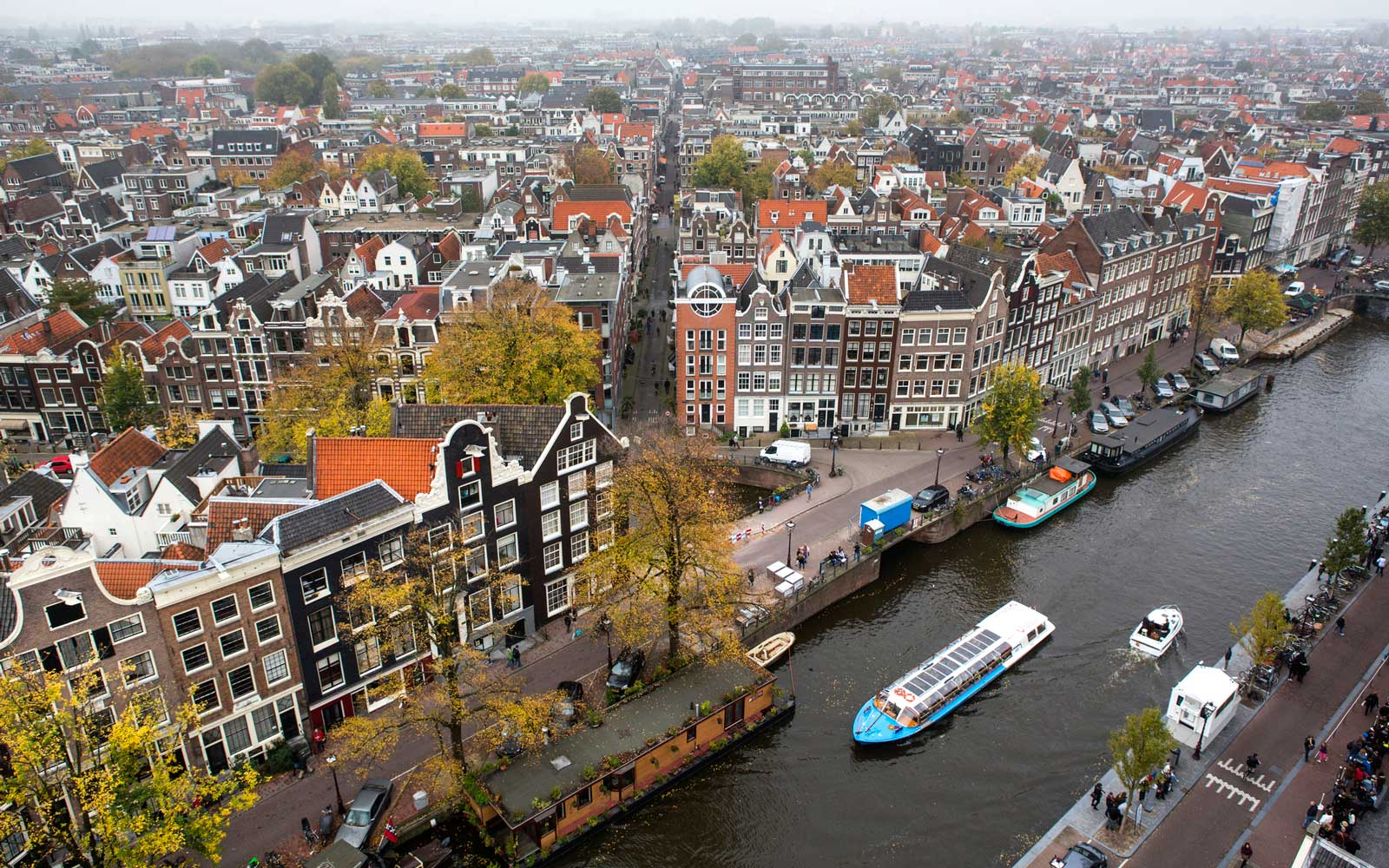A view across the Dutch capital city of Amsterdam