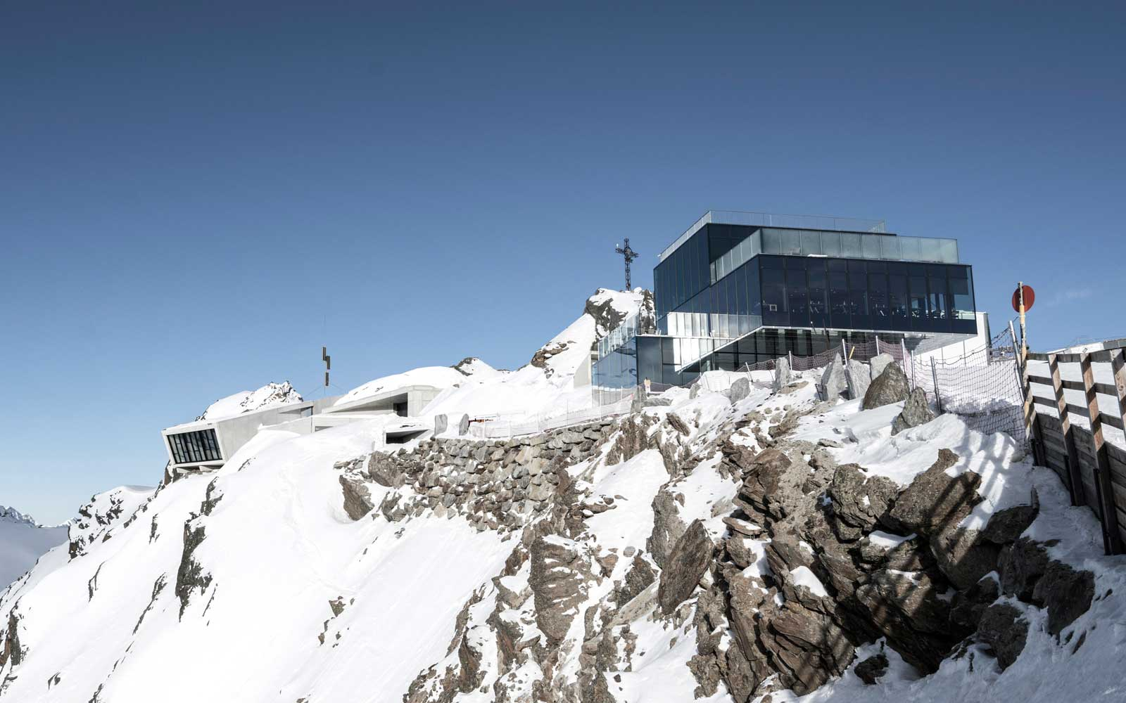 Exterior of the new James Bond attraction on a mountaintop in Austria