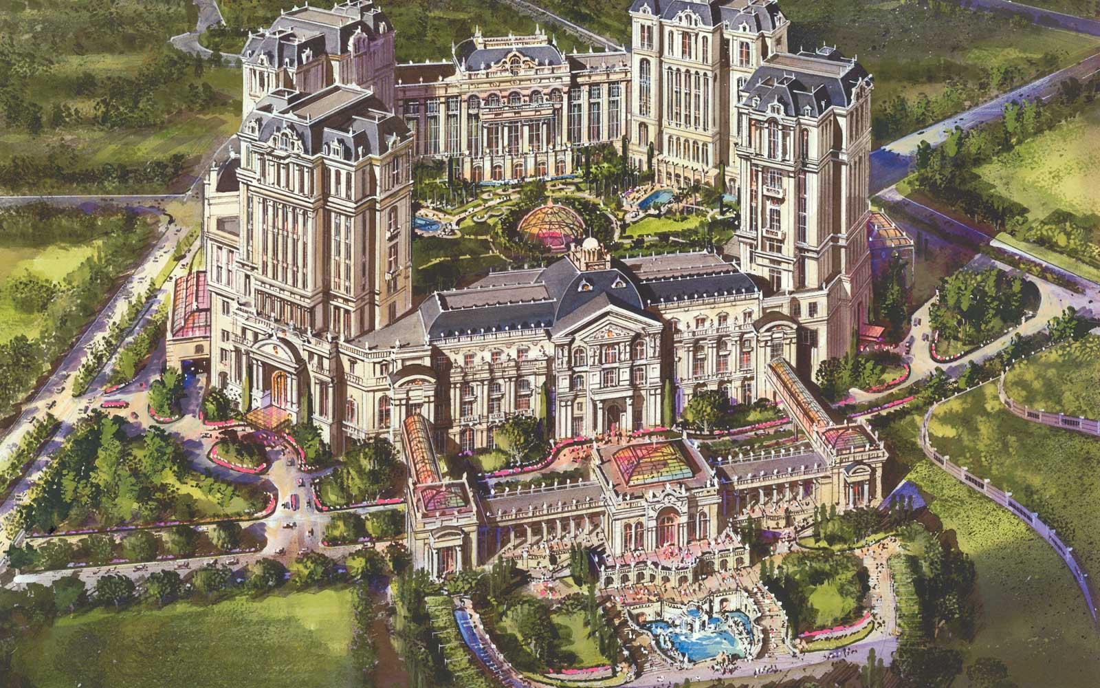 Rendering of the upcoming Grand Lisboa Palace Hotel