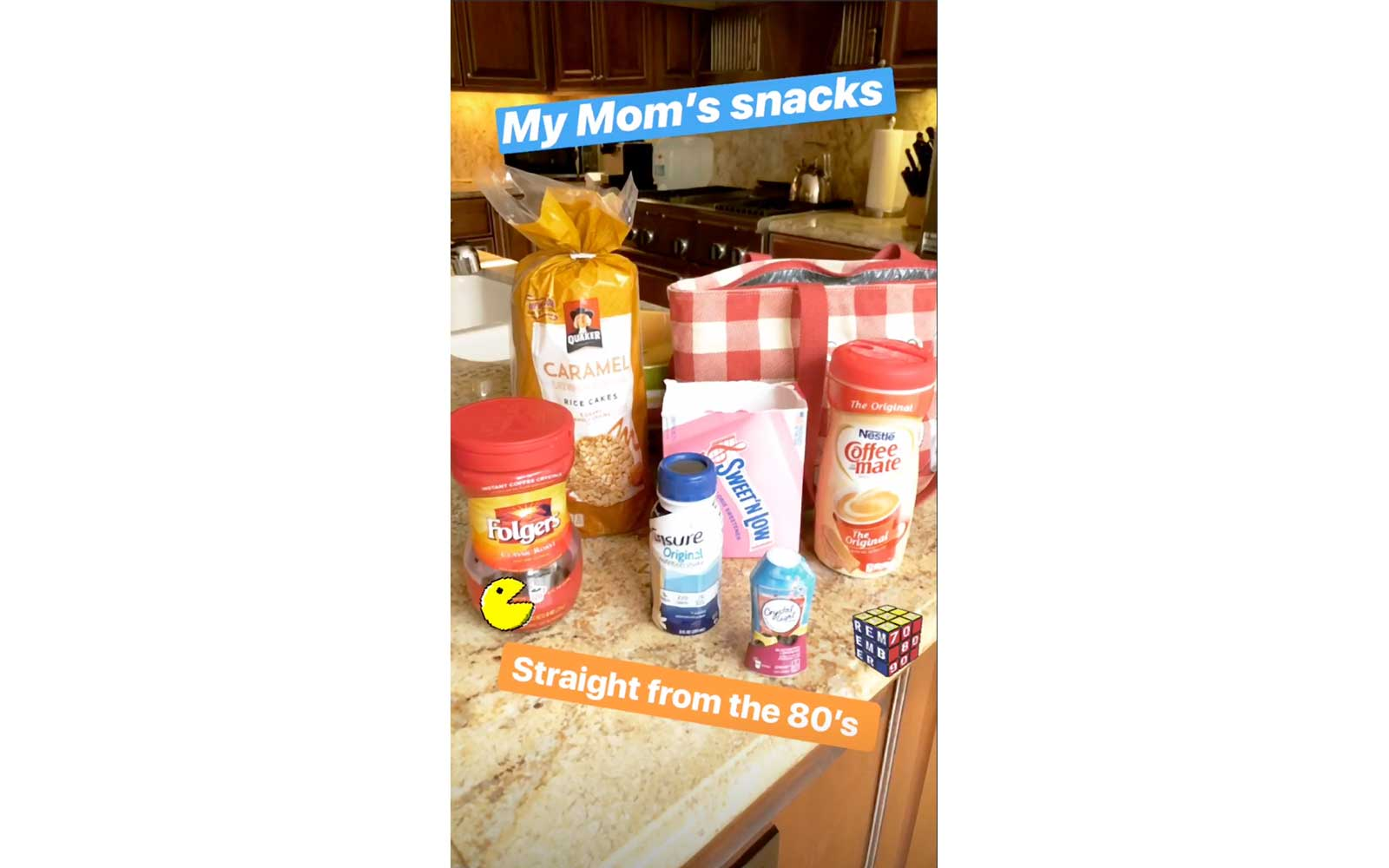 Bag of Reese Witherspoon's mom's snacks