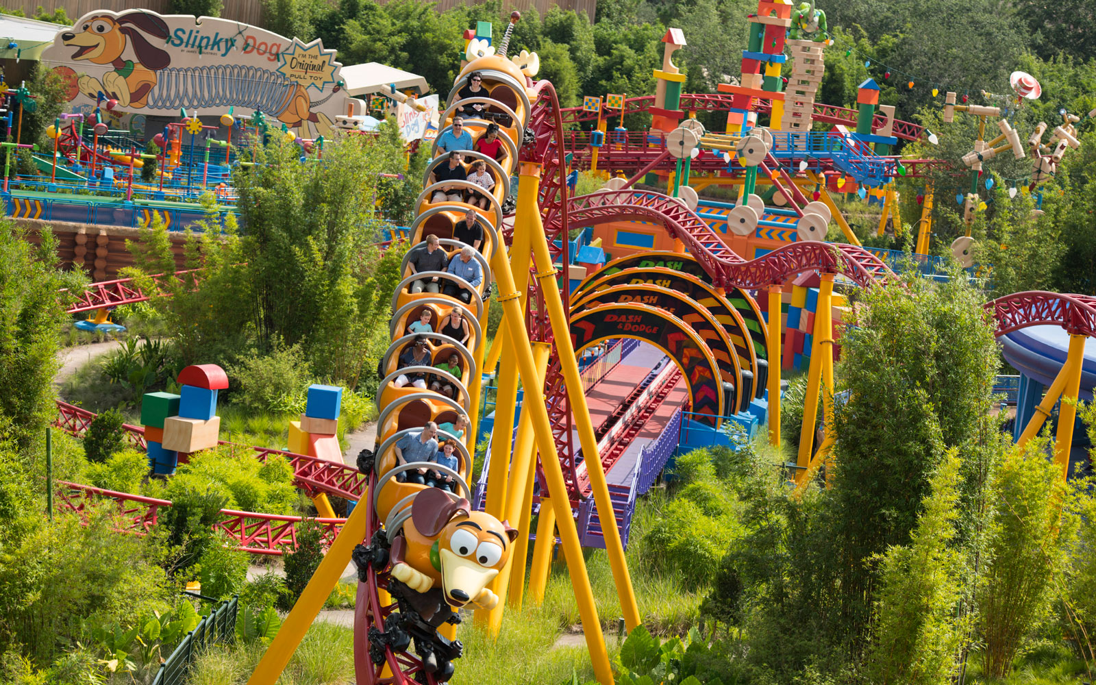 The Slinky Dog Dash will be one of the anticipated rides at Toy Story Land opening at Disney's Hollywood Studios.