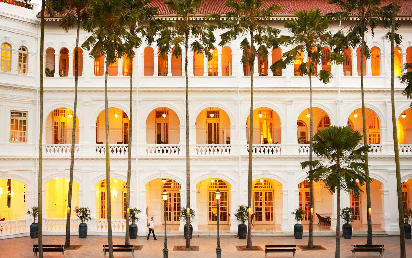 Facade of the Raffles Singapore