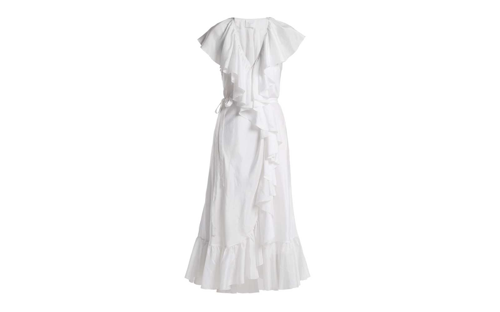 Loup Charmant Callela Ruffle-Trimmed Silk Dress