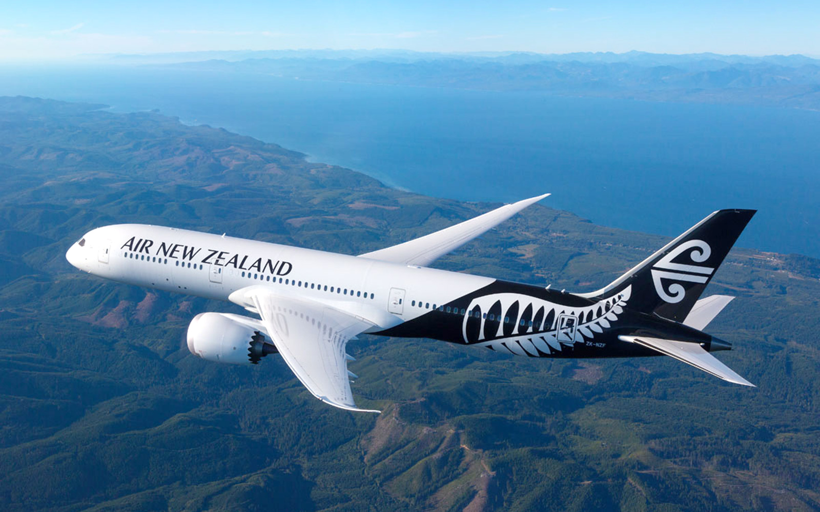 Air New Zealand plane in flight