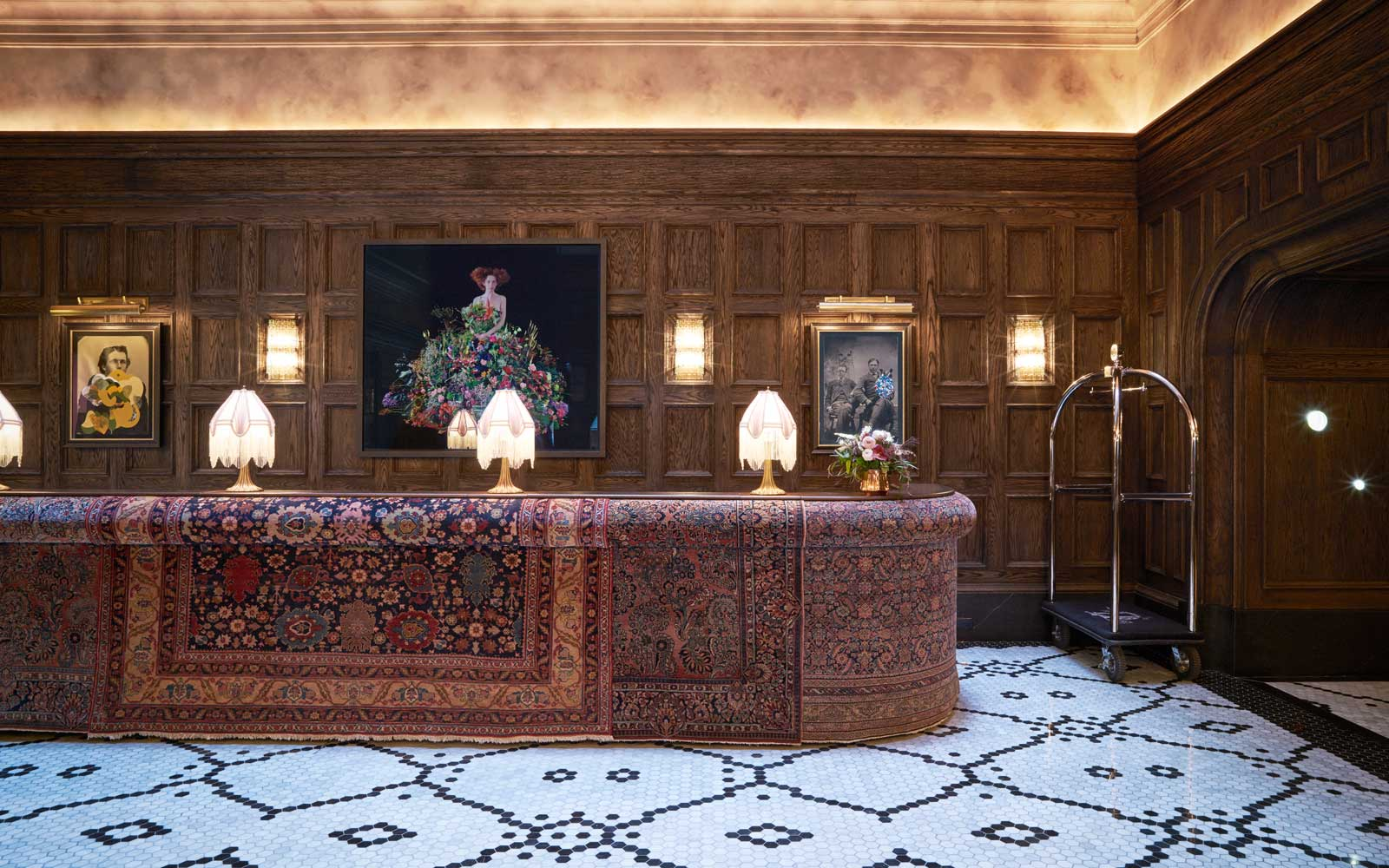 Reception desk of The Beekman, a Thompson Hotel
