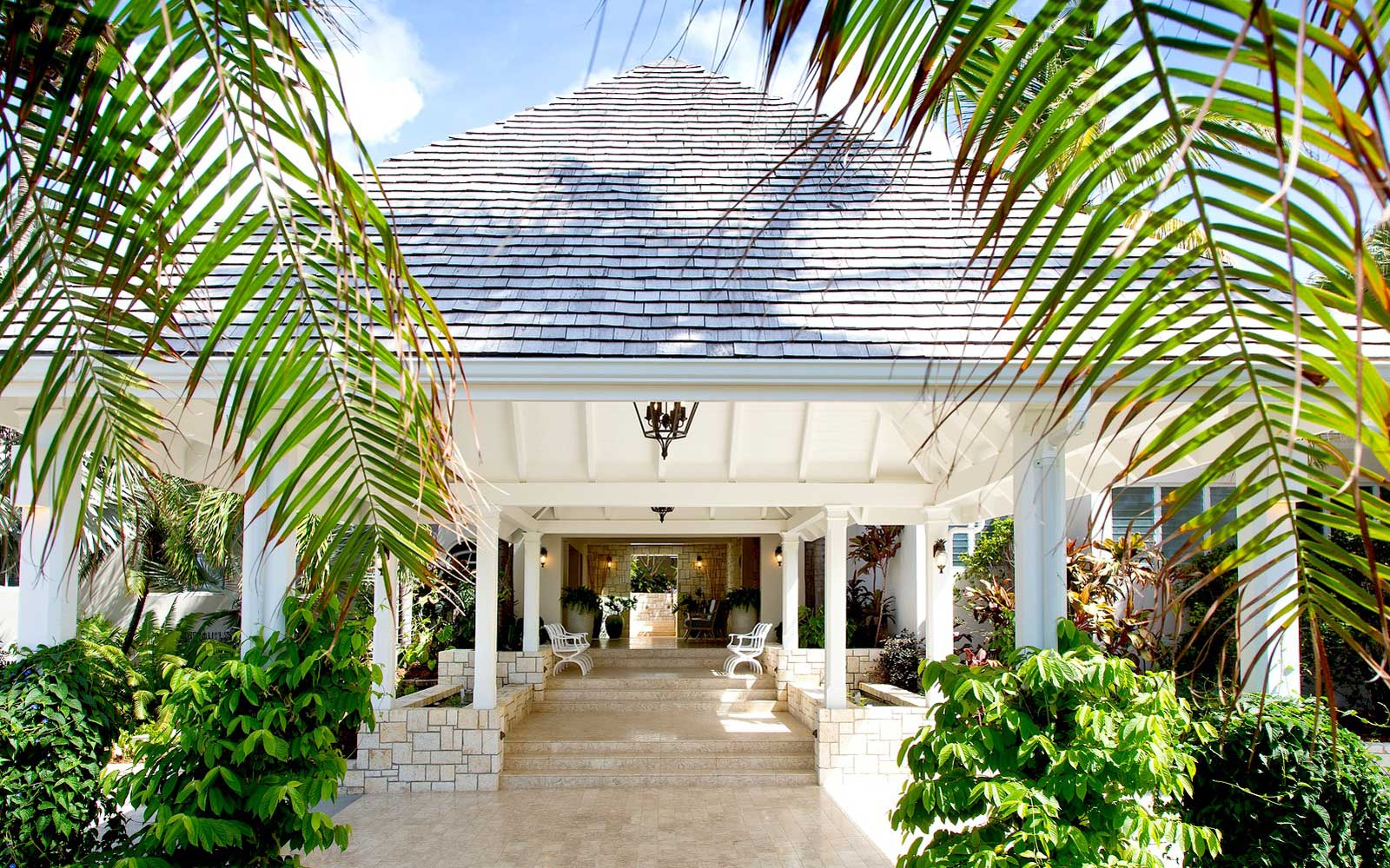 Renovated building at Curtain Bluff resort in Antigua