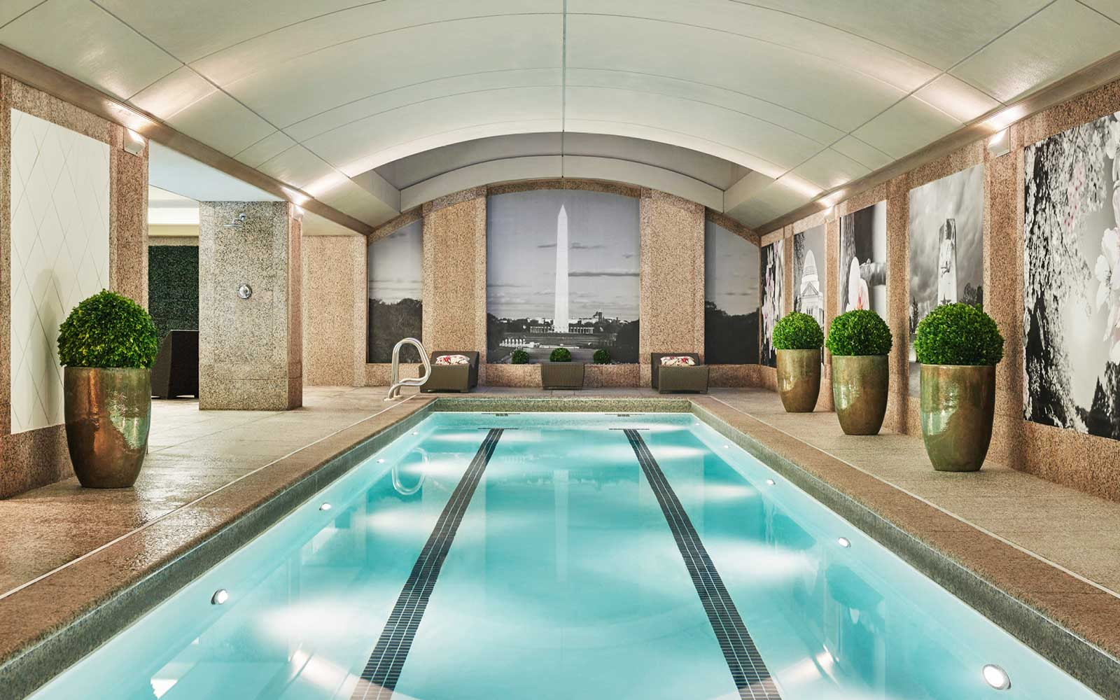 Pool at the Four Seasons hotel in washington dc