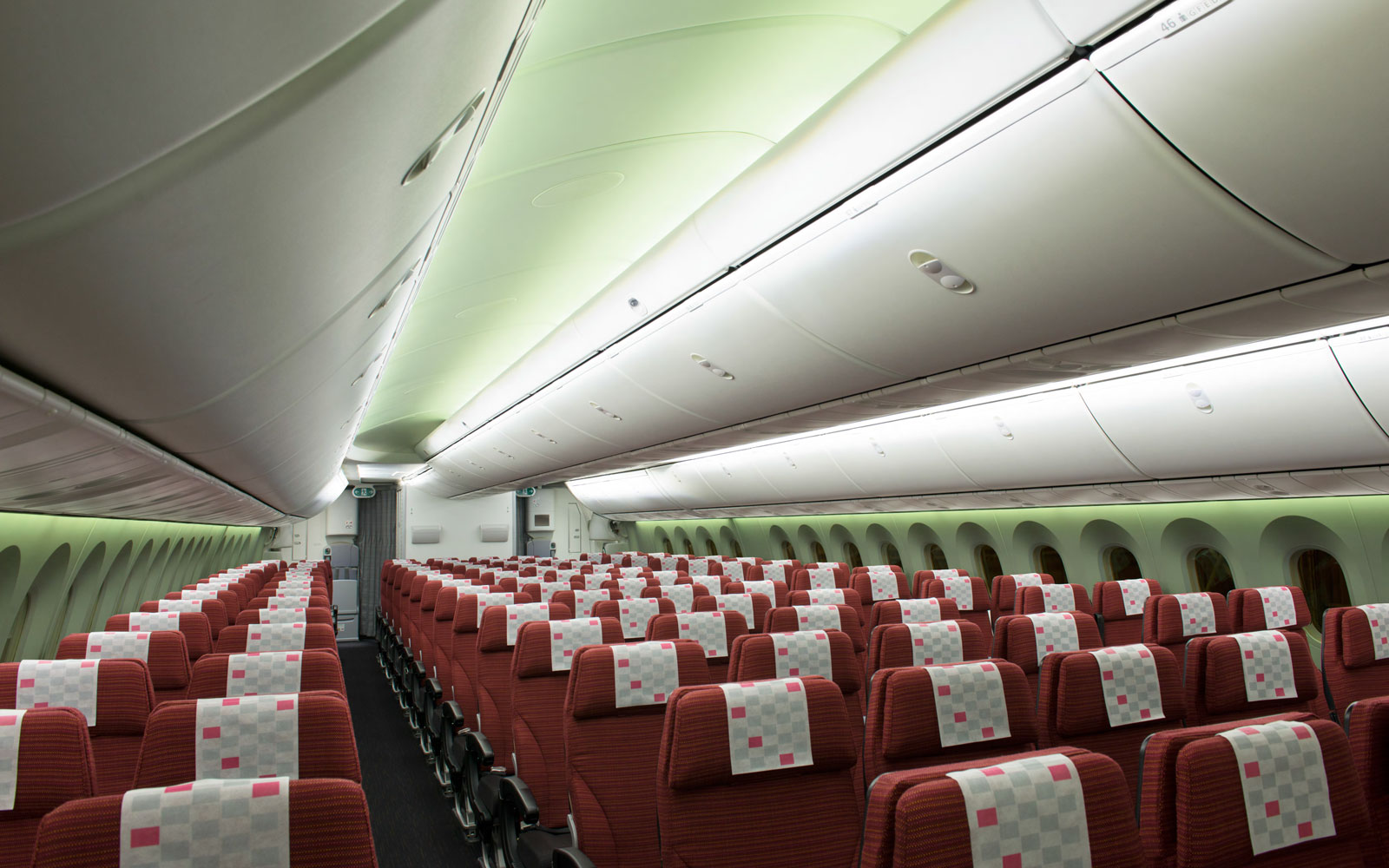Japan Airlines' Sky Wider seats.