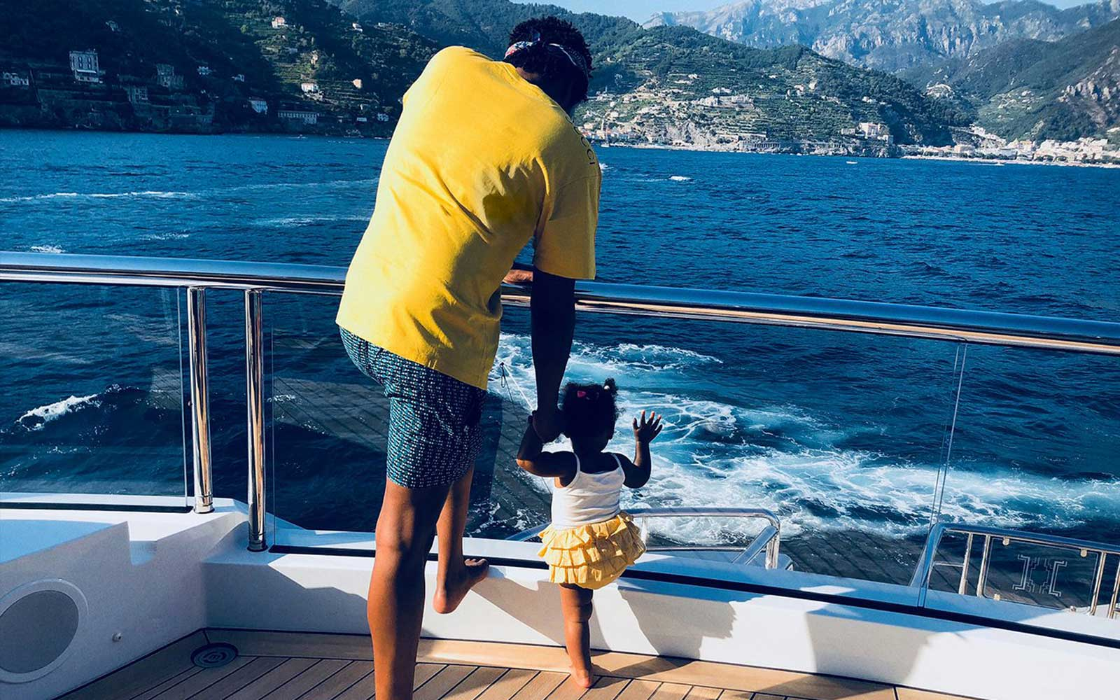 Jay-Z and Rumi Carter in Europe