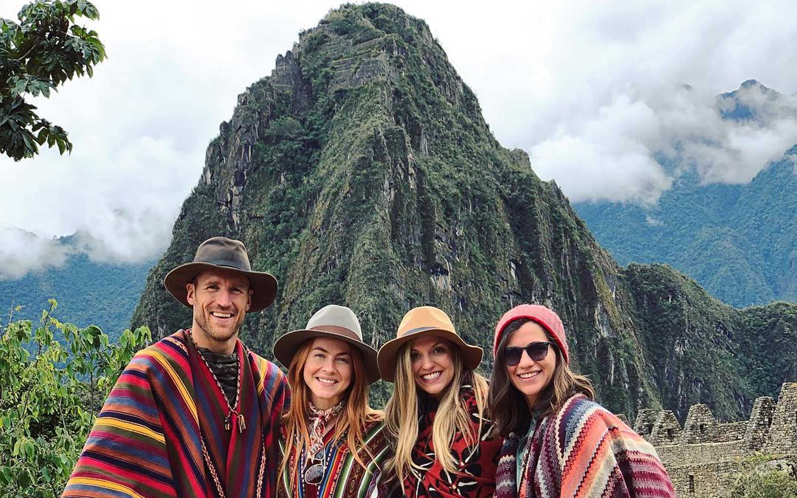 Julianne Hough, Brooks Laich, and their friends in Peru