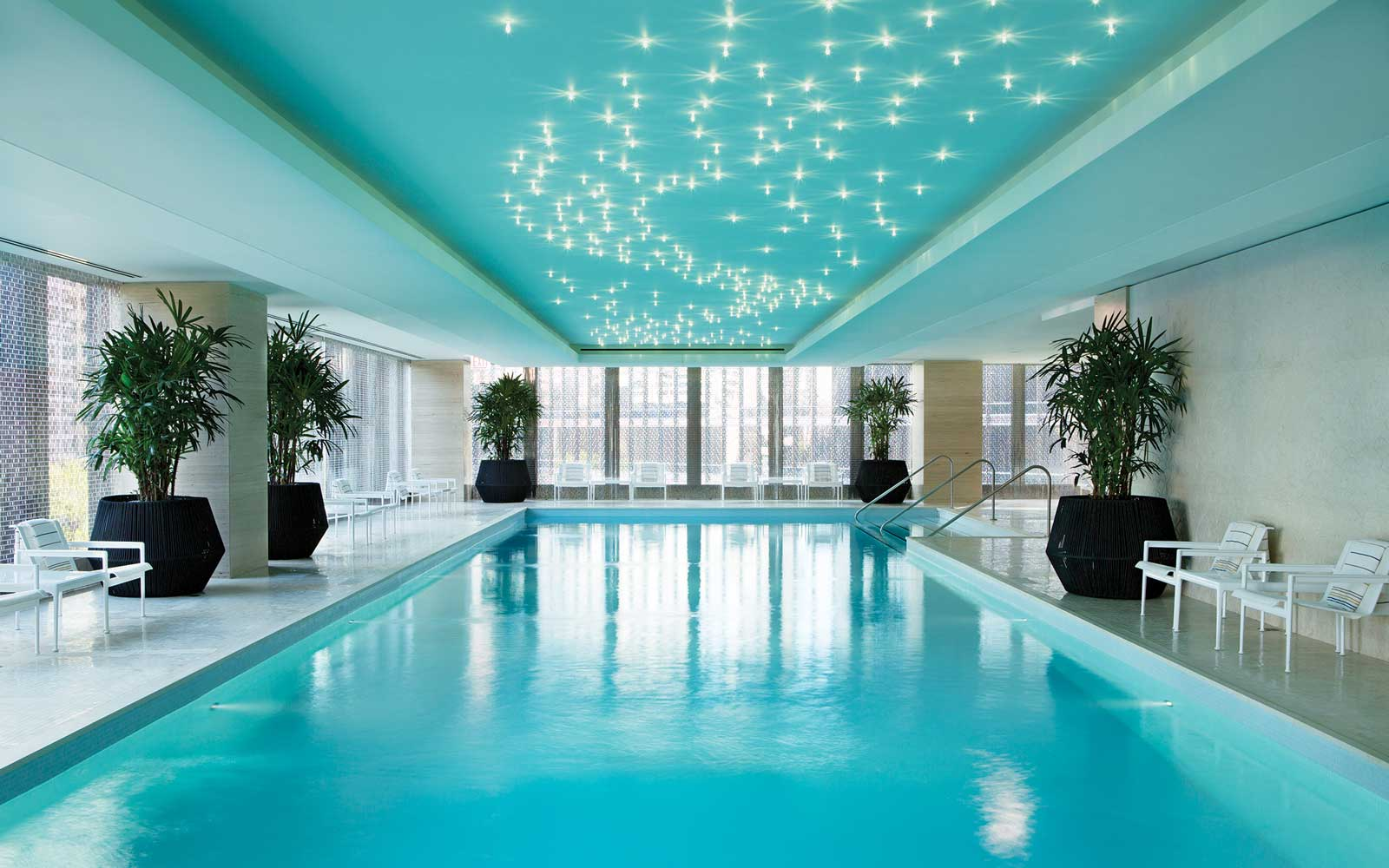 Pool at the Chuau spa at the Langham Chicago hotel
