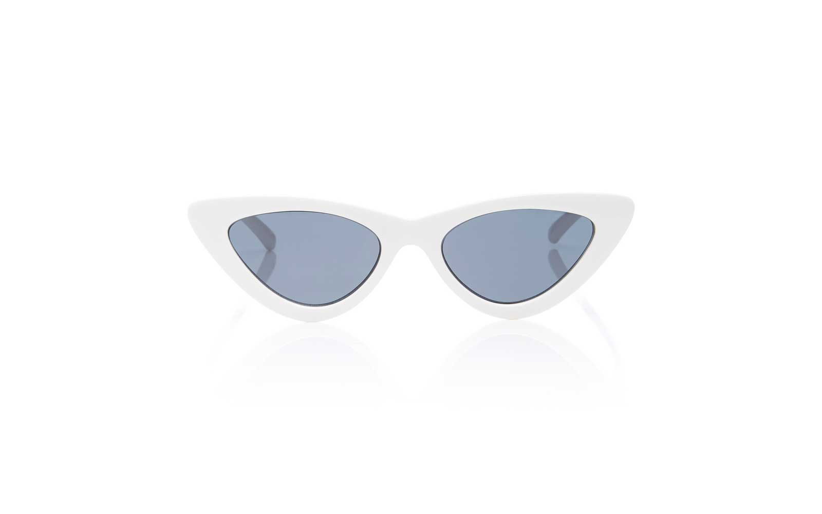 Le Specs x Adam Selman White Cat Eye Sunglasses
