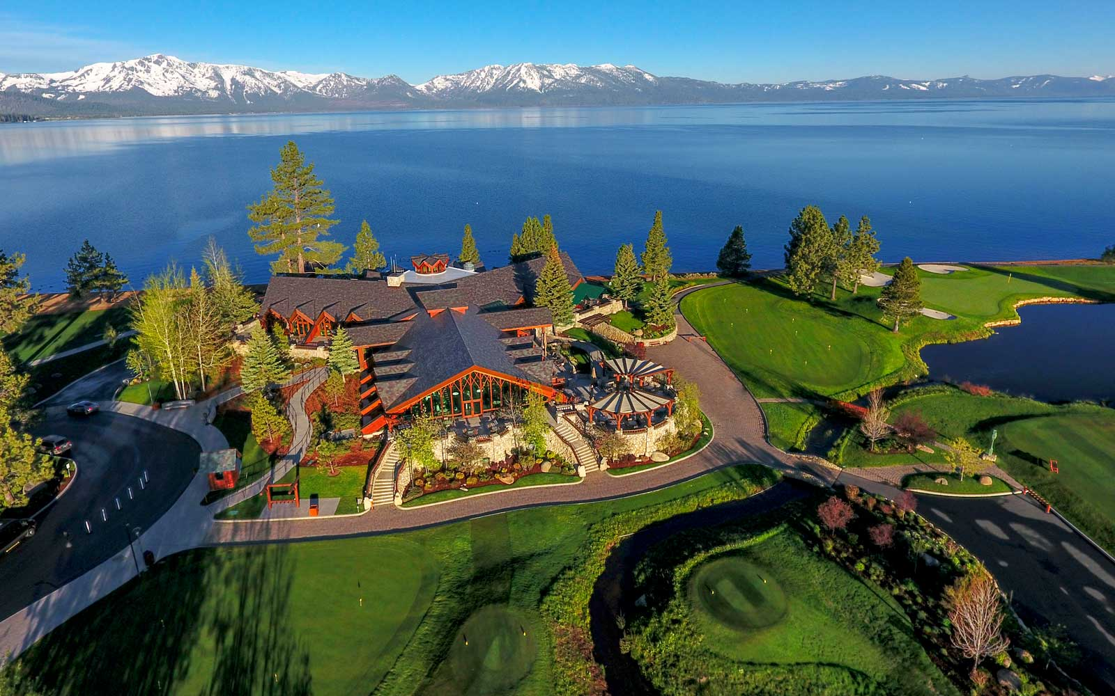 Aerial view of the Lodge at Edgewood Tahoe