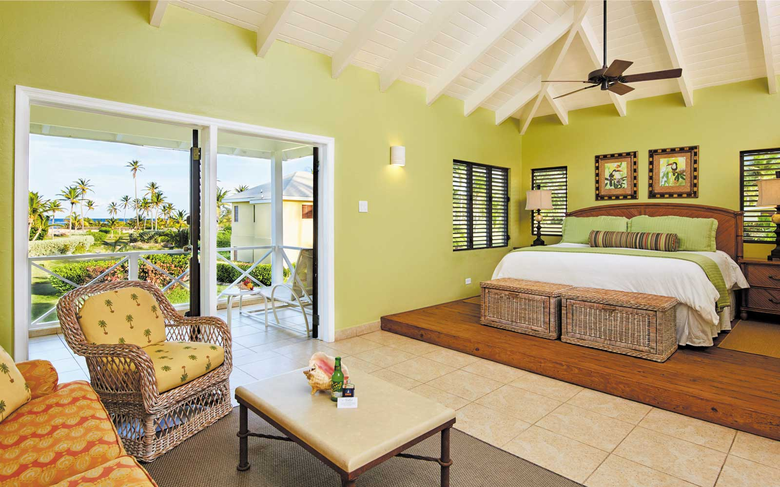 A room at the Nisbet Plantation on Nevis