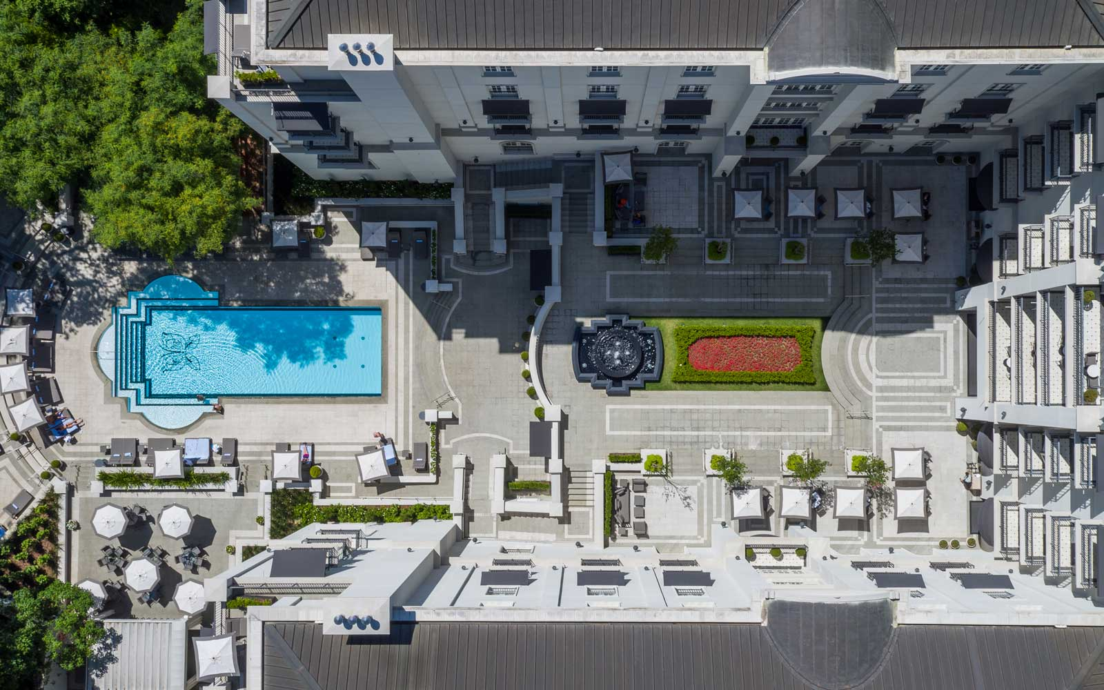 Aerial view of the Palacio Tangara, and Oetker Collection hotel
