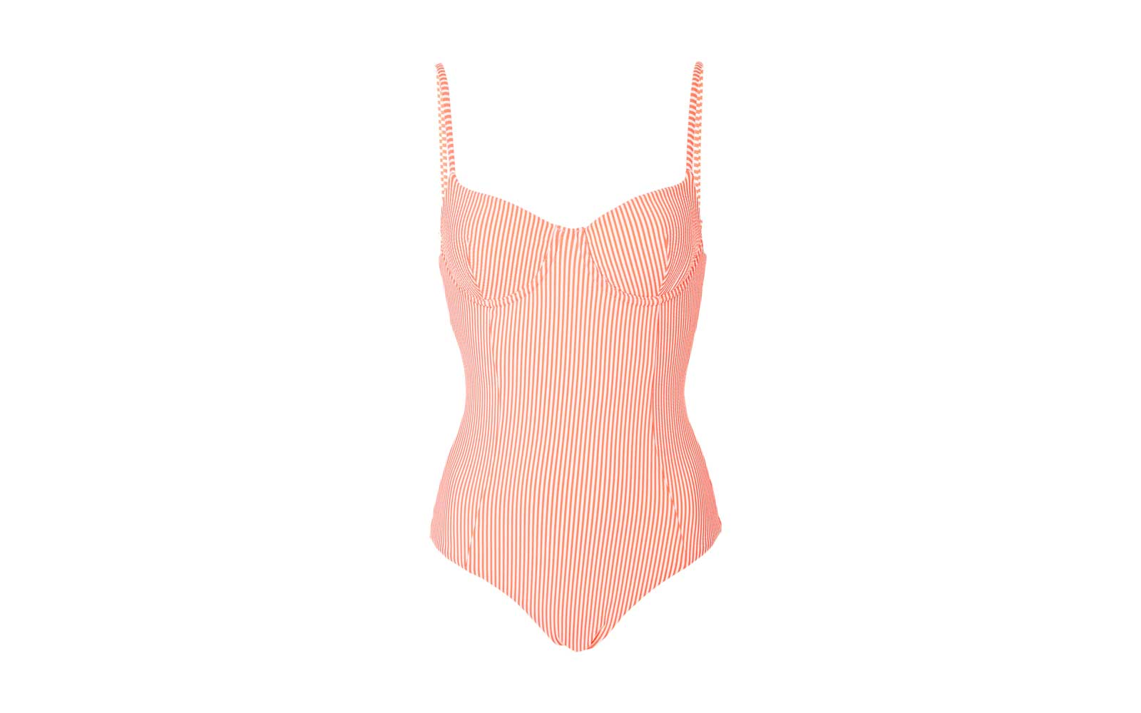 Onia Isabella Seersucker One Piece Swimsuit