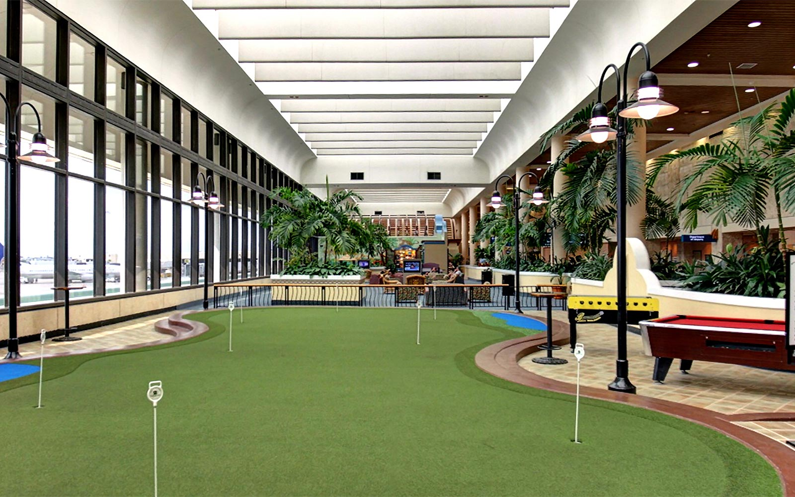 Palm Beach International airport mini golf course