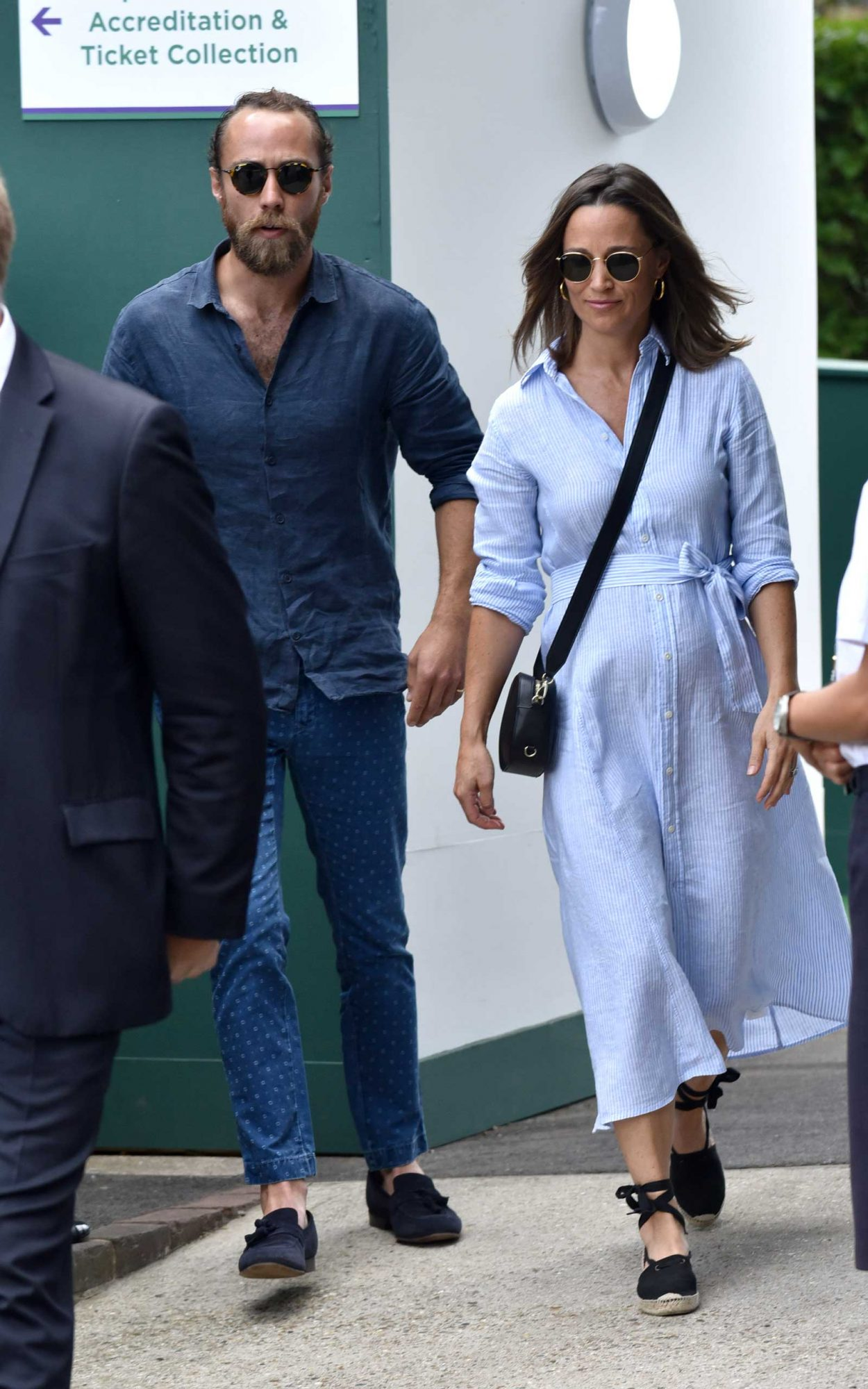 Pippa Middleton and James Middleton seen on day nine of The Championships at Wimbledon, London on July 11, 2018