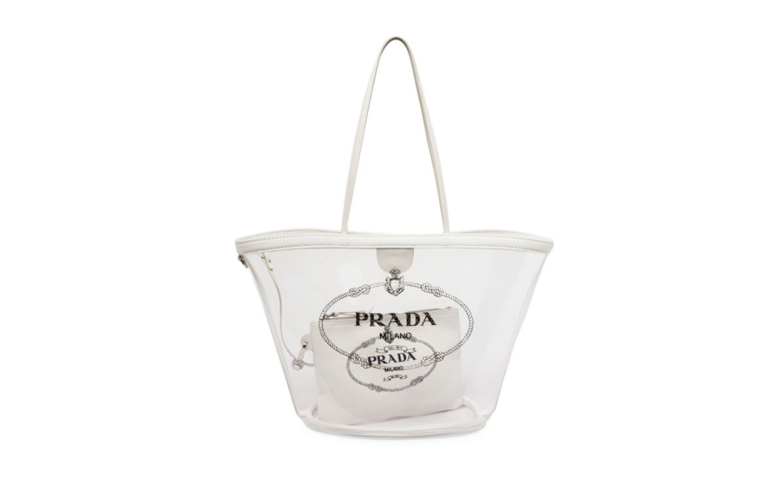 prada clear bag