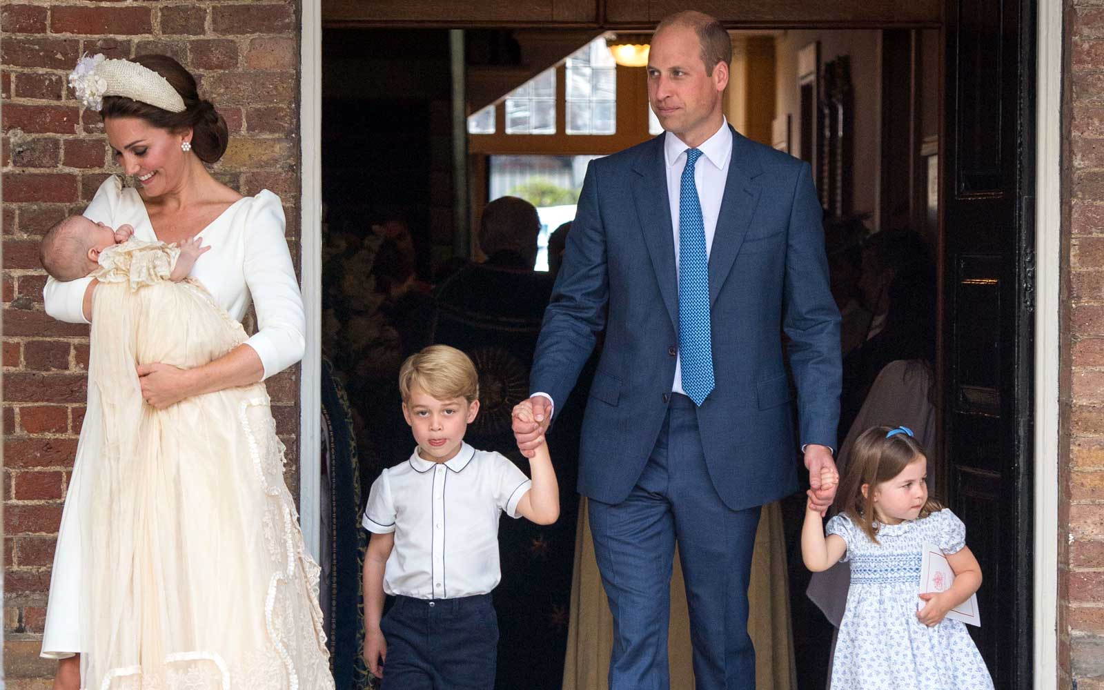 Prince Louis' christening service at the Chapel Royal, St James's Palace, London on July 9, 2018.