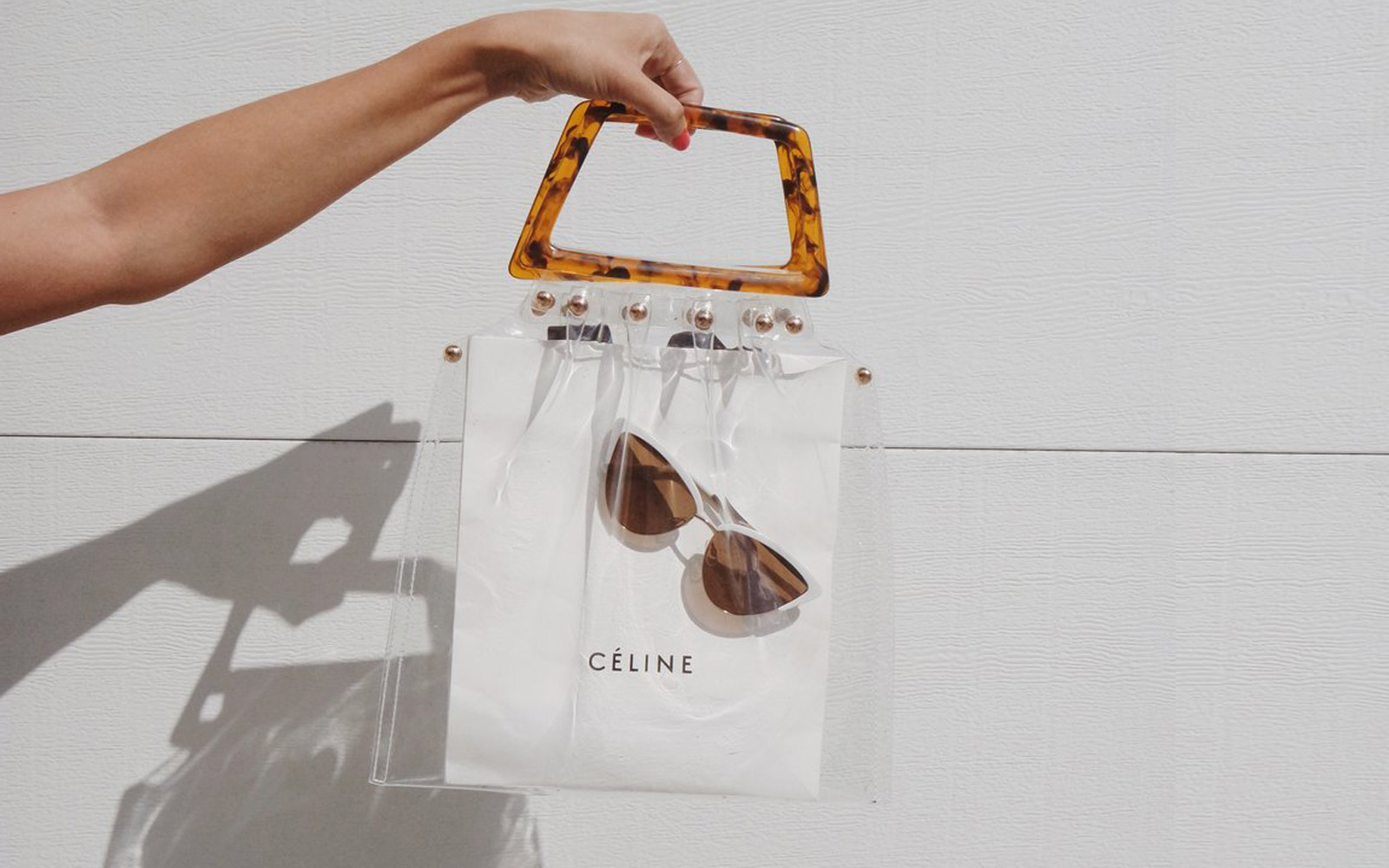 shop girl LA clear tote