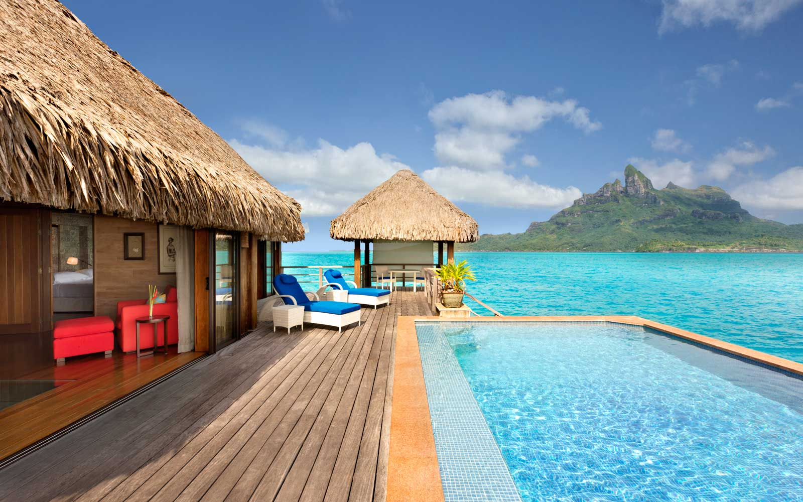 Pool view from the St Regis Bora Bora