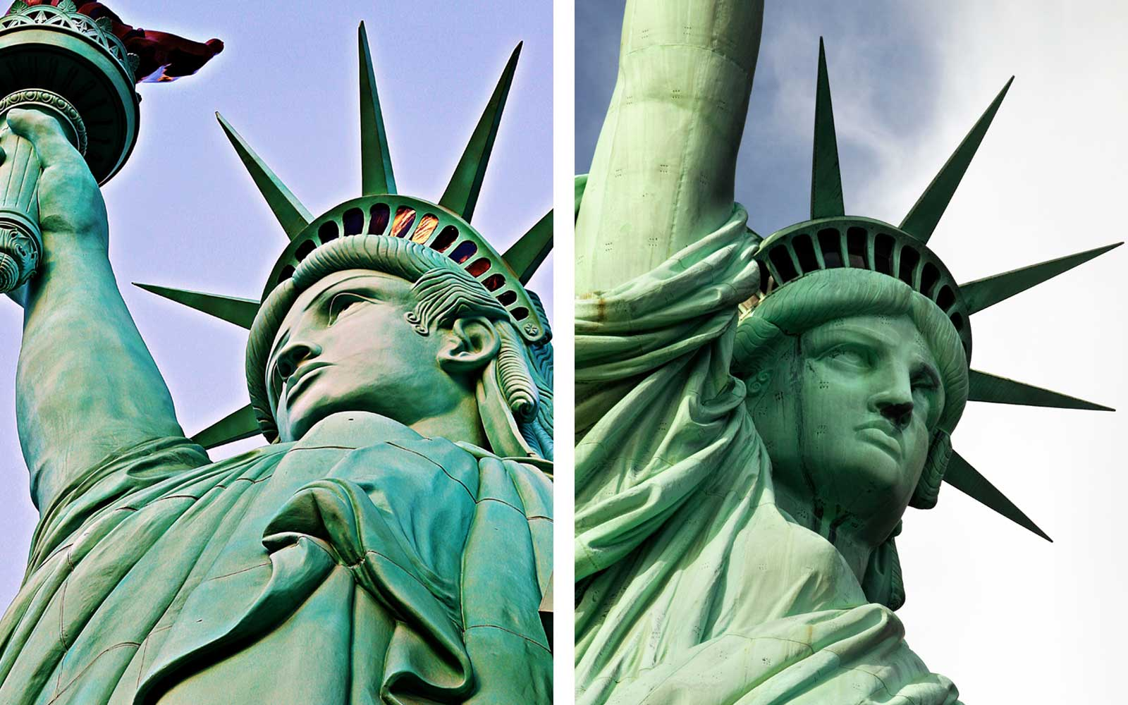 Statue of Liberty Replica in Las Vegas and Statue of Liberty in New York