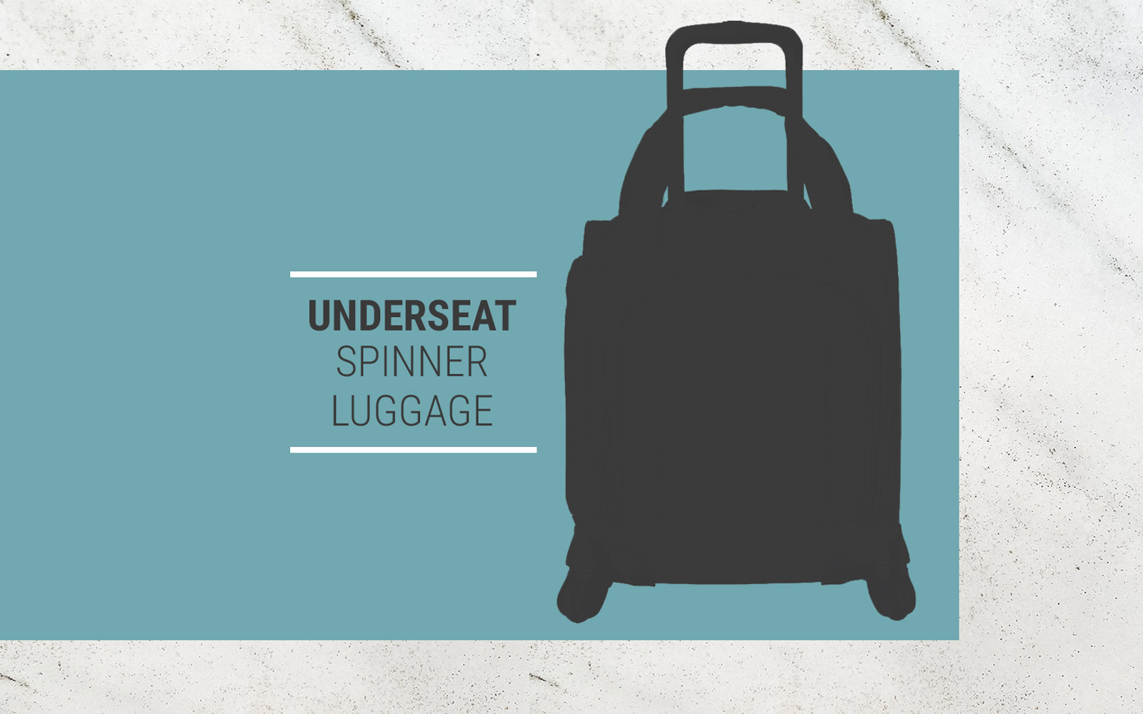 underseat spinner luggage
