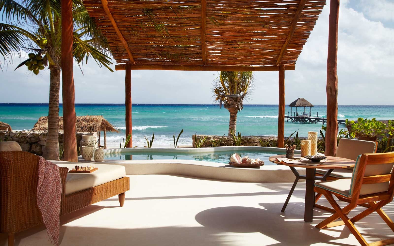 View to the ocean from the Viceroy Riviera Maya resort