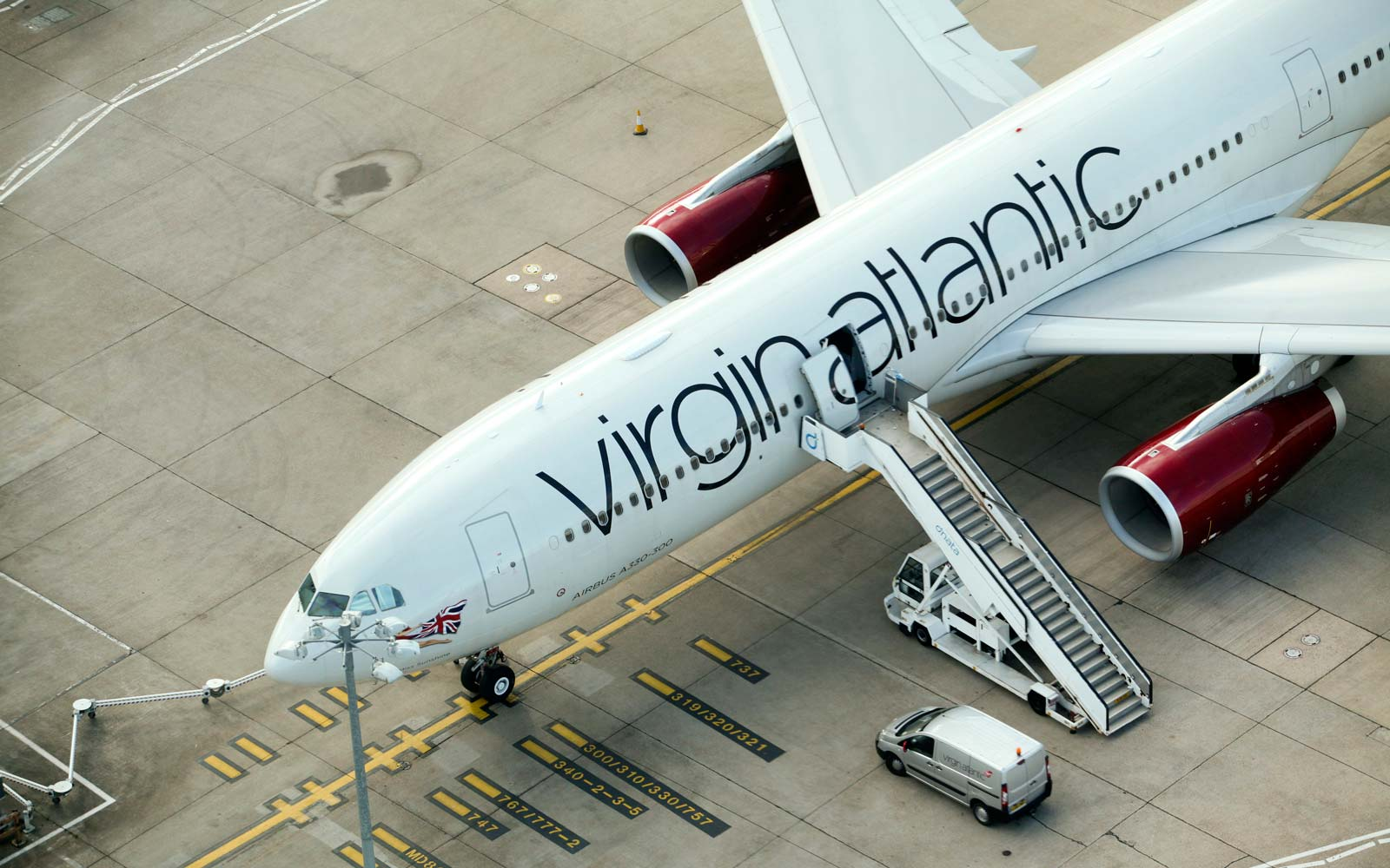 Virgin Atlantic Airbus at Heathrow Airport