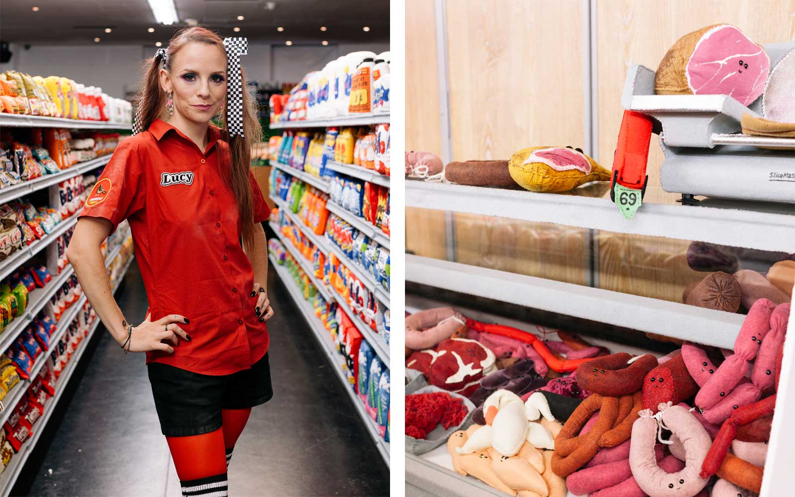 The Standard Hotel Downtown Los Angeles Felt Supermarket by Lucy Sparrow