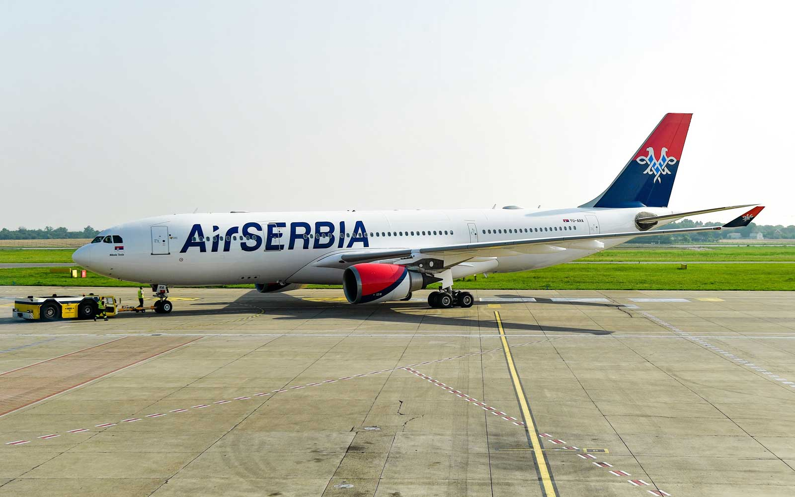 Air Serbia Airbus A330 in Belgrade