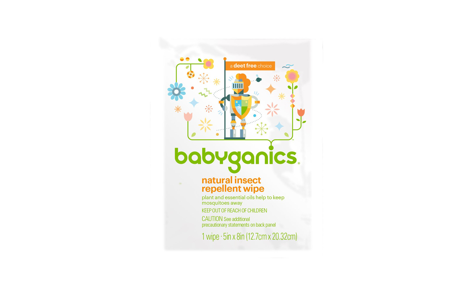 Babyganics Personal Insect Repellent Wipes