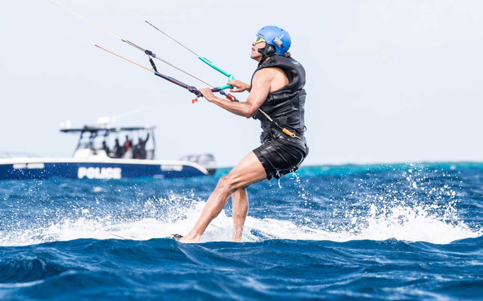 Former President Barack Obama Goes Kitesurfing In The Caribbean
