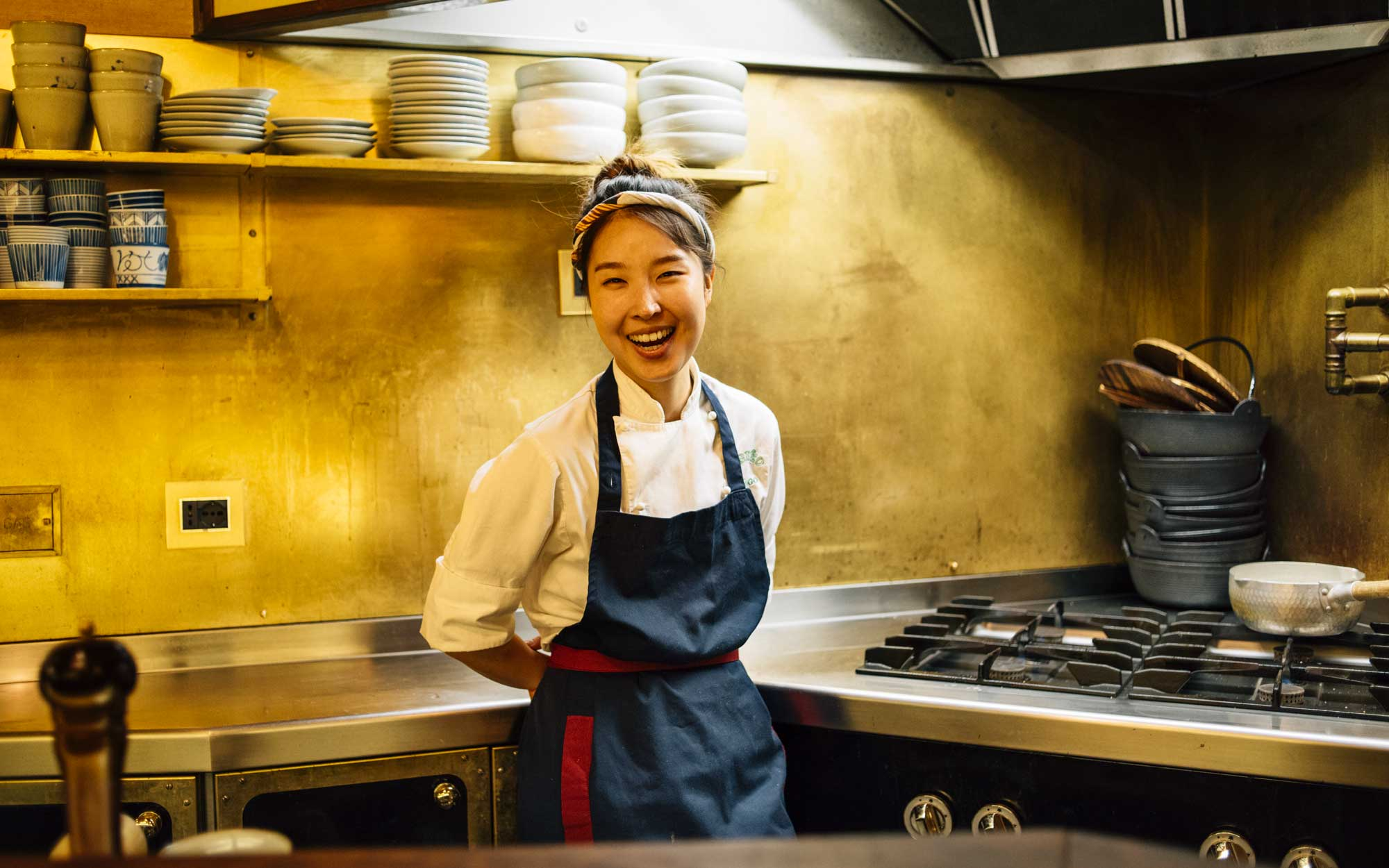 Chef Minjoo Heo at Cibleo, in Florence
