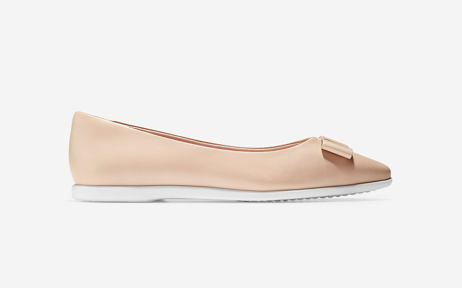 Cole Haan Bow Skimmer Flat in Shifting Sand/Optic White