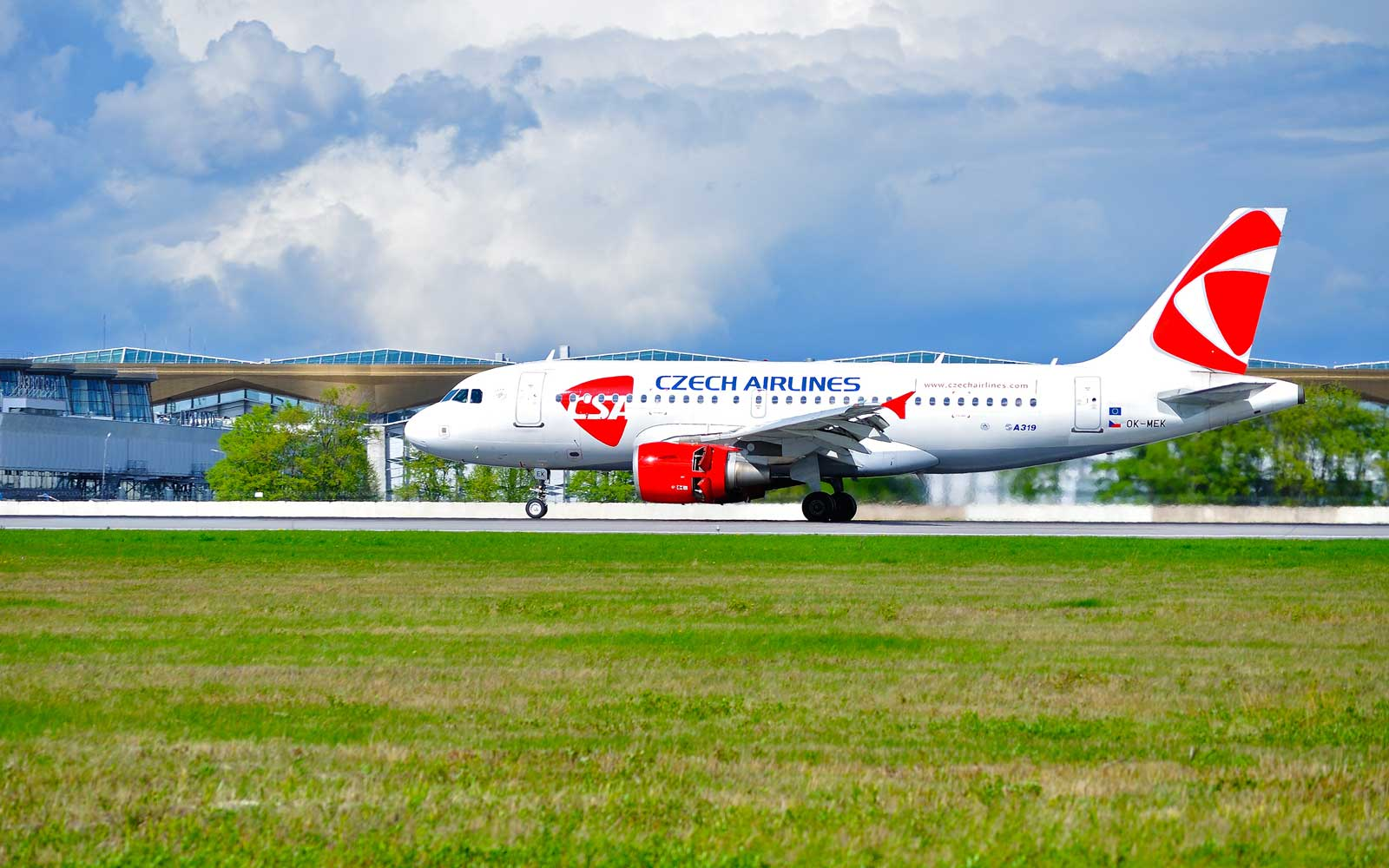 Czech Airlines A319 airplane in Russia