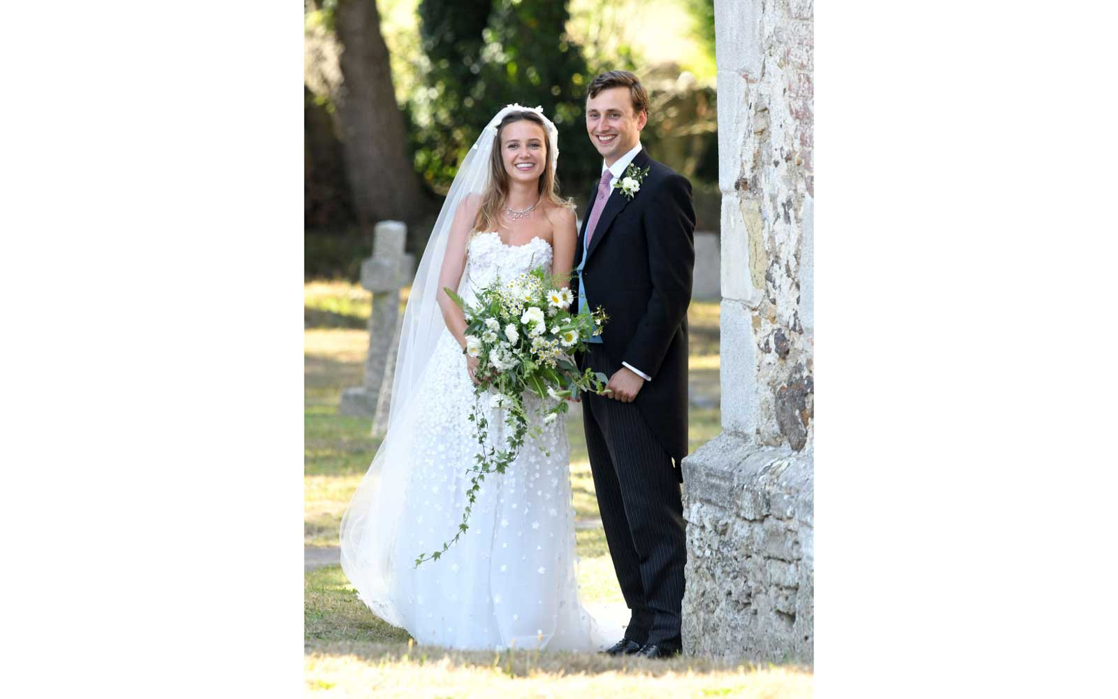 The wedding of Daisy Jenks and Charlie Van Straubenzee at Saint Mary The Virgin Church on August 4, 2018 in Frensham, United Kingdom