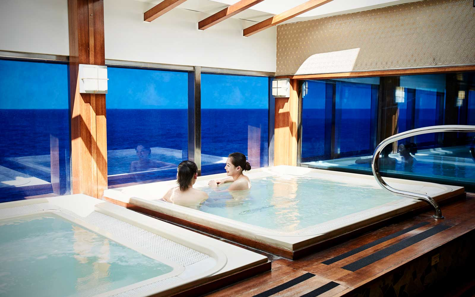 Onsen-style spa on board the Diamond Princess